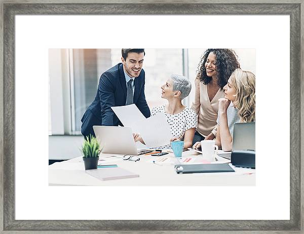 Female Ceo Framed Print by Pixelfit
