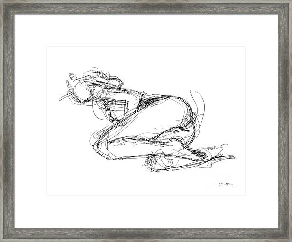 Female-erotic-sketches-8 Framed Print