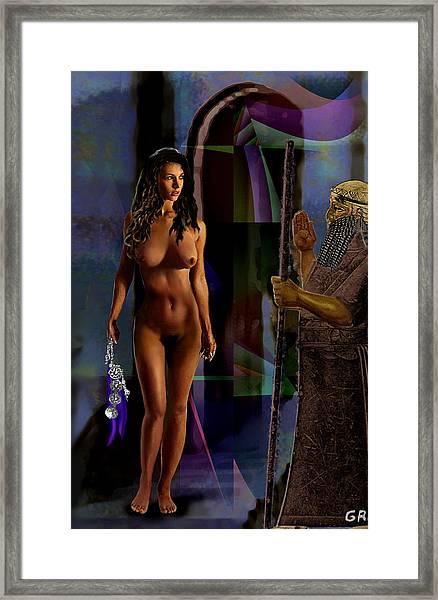 Female Nude Digital Fine Art Jean Inanna 7th Gate Framed Print