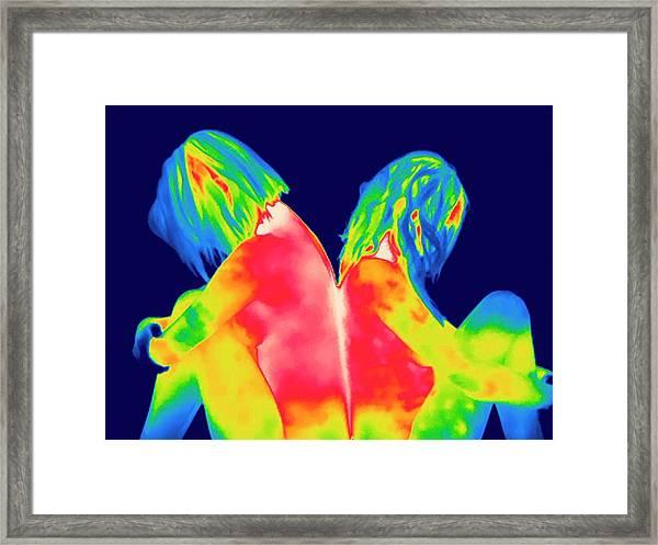 Female Relationship Trouble Framed Print