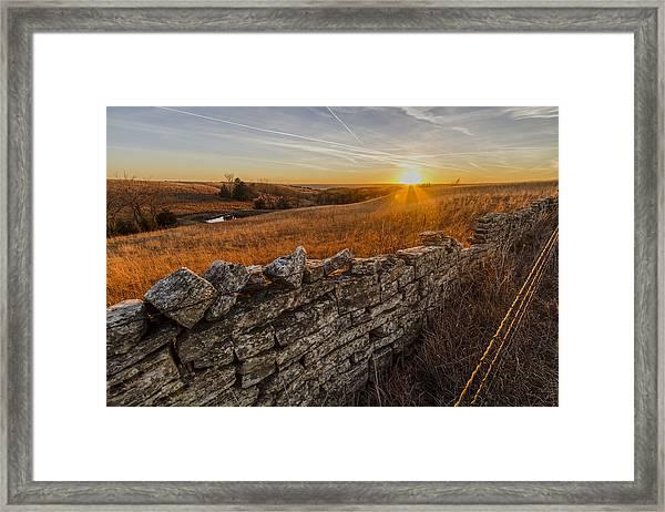 Fences Framed Print