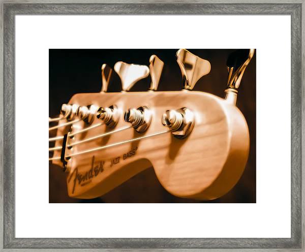 Fender Jazz Framed Print