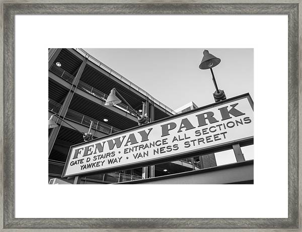 Fenway Park Sign Framed Print