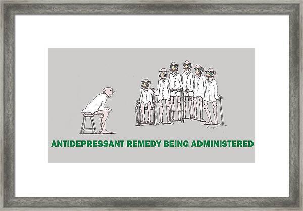 Feral Coots Alternative Medication II Framed Print
