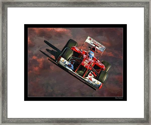 Fernando Alonso Ferrari Framed Print