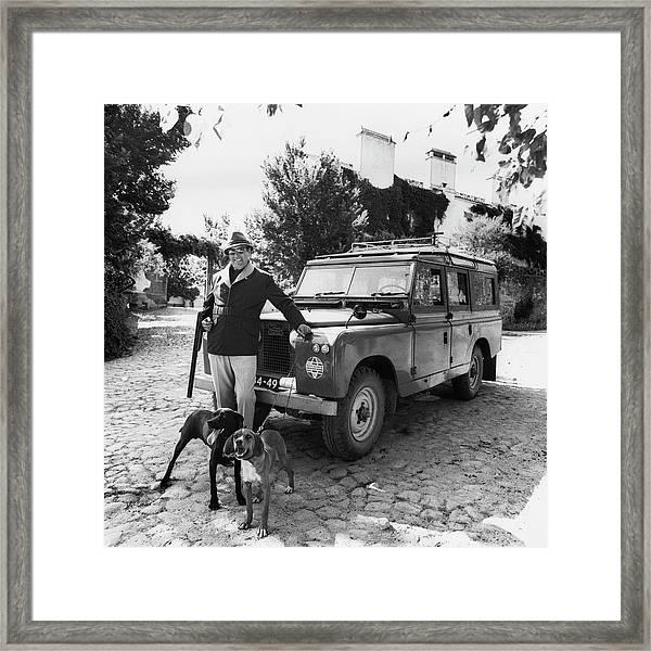 Fernando Fernandez Holding A Winchester Gun Framed Print