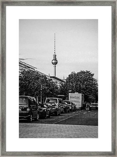 Fernsehturm-tower Framed Print by Chris Smith