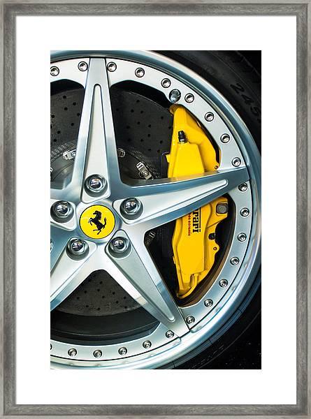 Ferrari Wheel 3 Framed Print