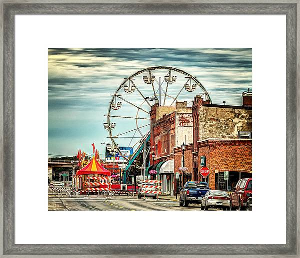 Ferris Wheel In Winona Framed Print