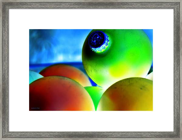 Festive Ornaments Framed Print