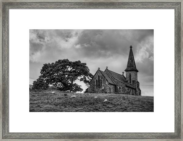 Fewston Church And Sheep Framed Print