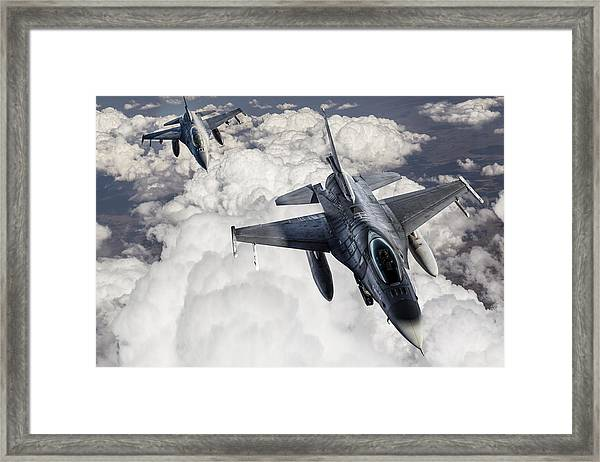 Fıghter Jet Framed Print by Guvendemir
