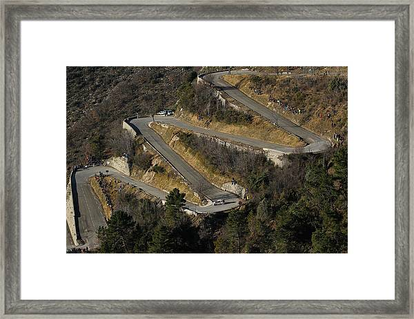 Fia World Rally Championship Monte-carlo -  Day Four Framed Print by Massimo Bettiol