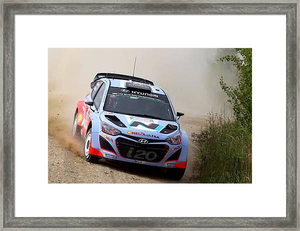 Fia World Rally Championship Poland - Shakedown Framed Print by Massimo Bettiol
