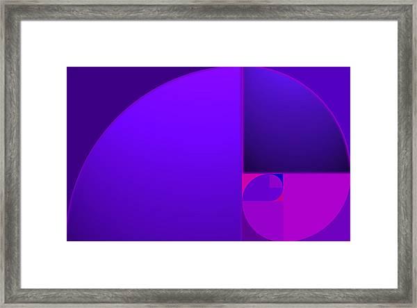 Fibonacci Blue Framed Print