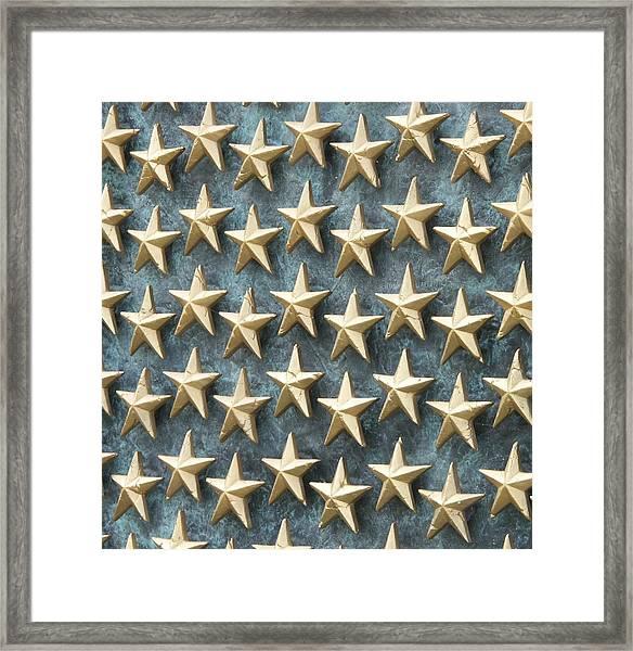 Field Of Golden Stars Framed Print by Smanter