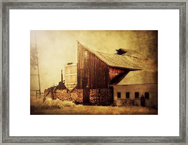 Field Stone Barn 2 Framed Print