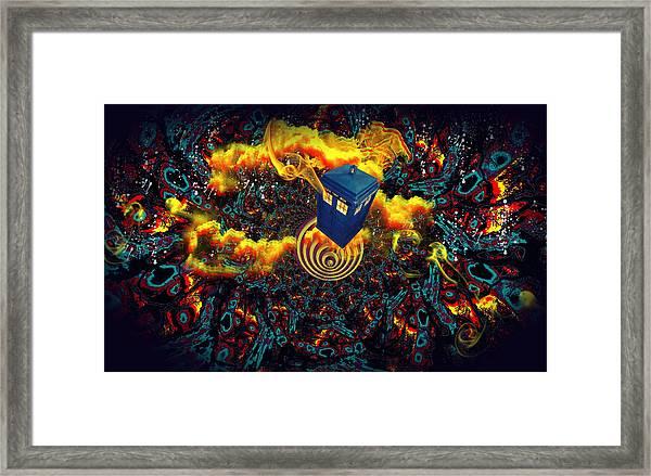 Fiery Time Vortex Framed Print
