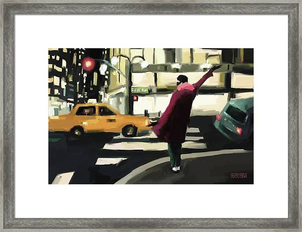Fifth Avenue Taxi New York City Framed Print