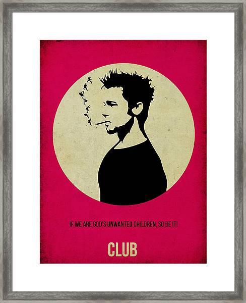 Fight Club Poster Framed Print
