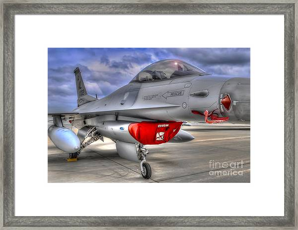 Fighting Falcon Framed Print