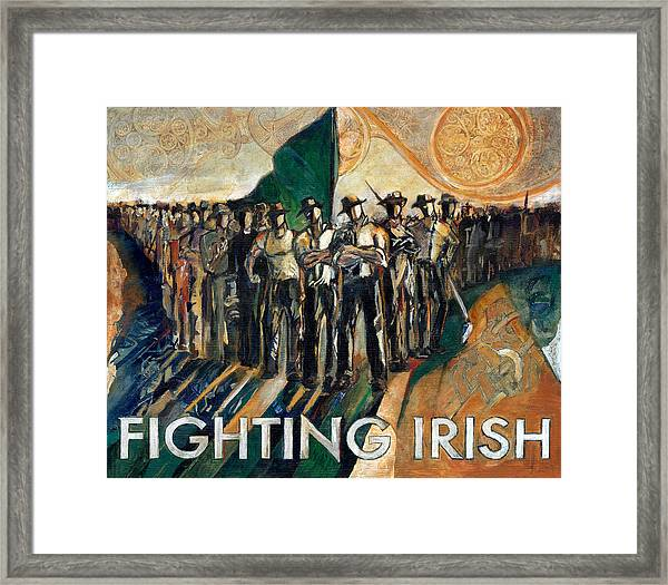 Fighting Irish Pride And Courage Framed Print by Revere La Noue