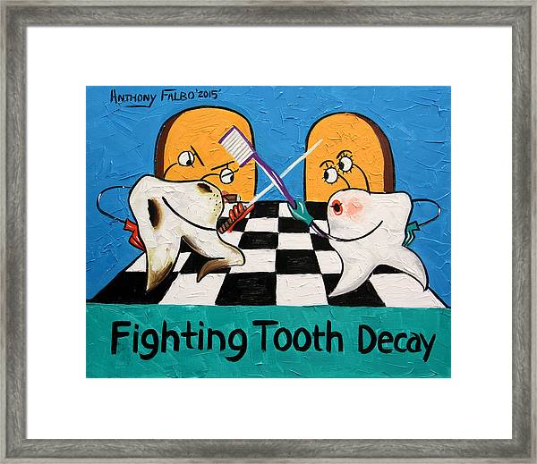 Fighting Tooth Decay Framed Print