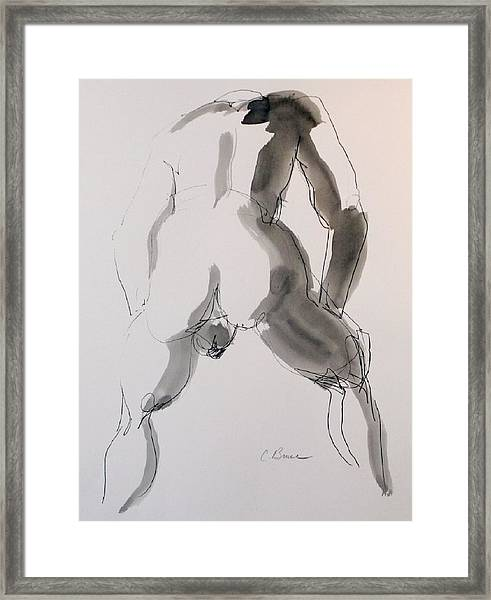 Figure 2 Male Nude Framed Print by Craig  Bruce