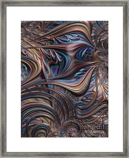 Filigree In Bronze Framed Print