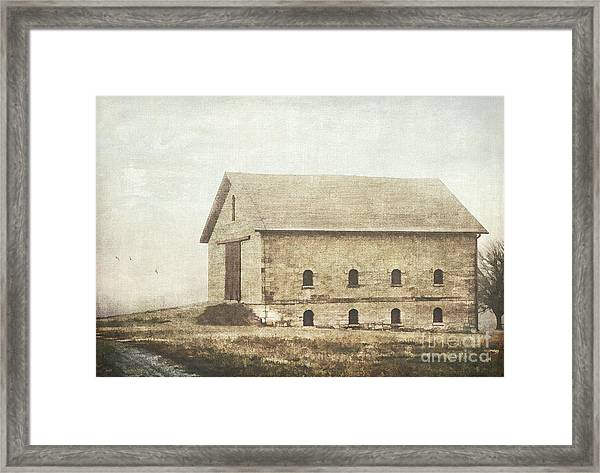 Filley Stone Barn Framed Print