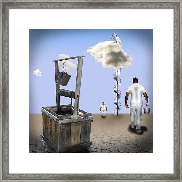 Filling Station Framed Print
