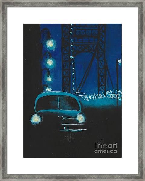 Film Noir In Blue #1 Framed Print