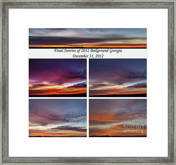 Final 2012 Sunrise Combo Framed Print