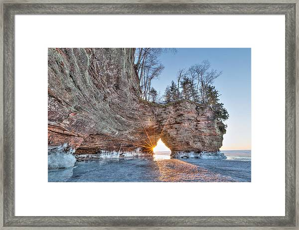 Final Sunset, Apostle Islands Framed Print