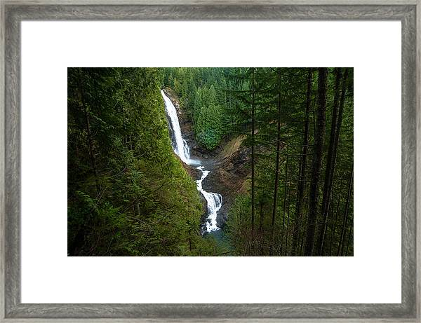 Finding The Falls Framed Print
