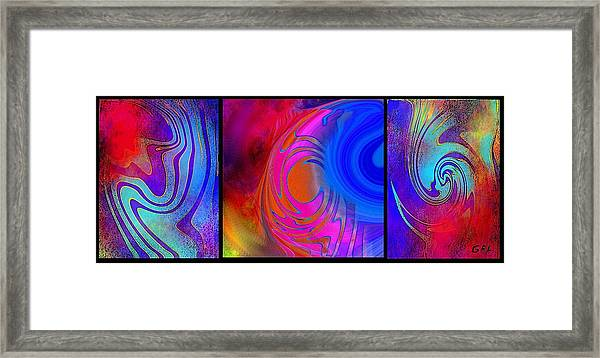 Fine Art Painting Original Digital Abstract Warp 3 Framed Print