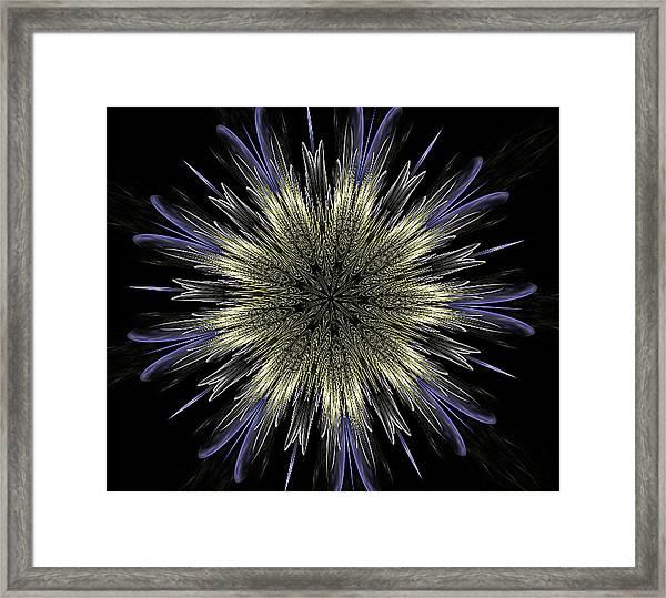 Fine Elegance Mandala Framed Print