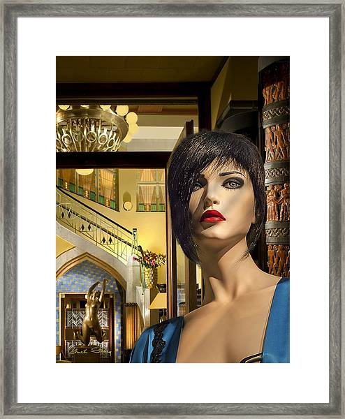 Fiona Arrives In Prague Framed Print