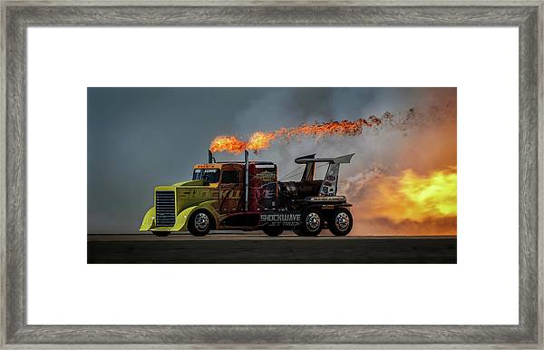 Fire & Speed - Mcas Miramar Air Show Framed Print by David H Yang