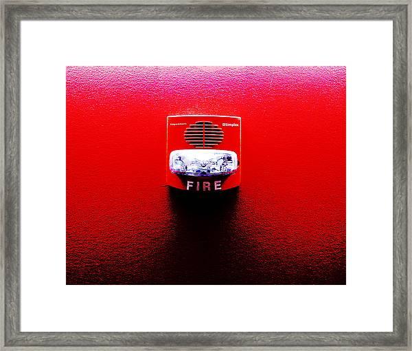 Fire Alarm Strobe Framed Print