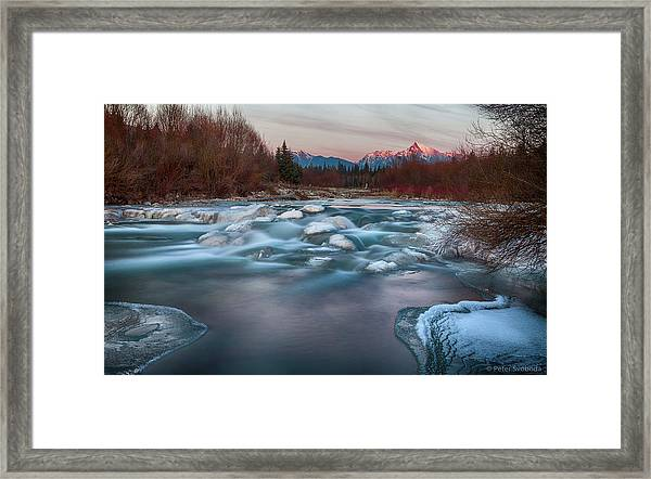 Fire And Ice Framed Print by Peter Svoboda, Mqep