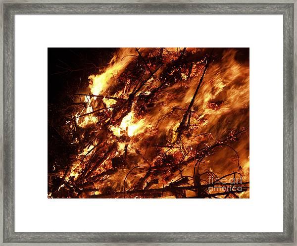 Fire Blaze Framed Print