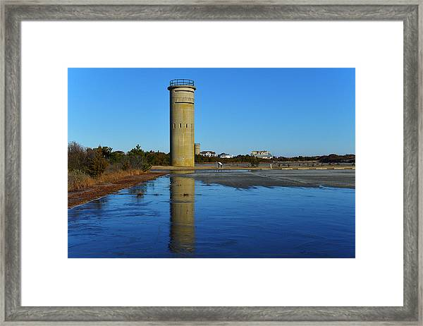 Fire Control Tower 3 Icy Reflection Framed Print