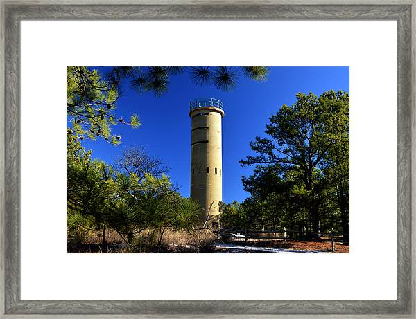 Fct7 Fire Control Tower #7 - Observation Tower Framed Print