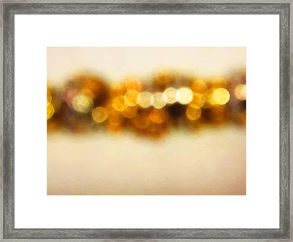 Fire Dance - Warm Sparkling Abstract Art Framed Print