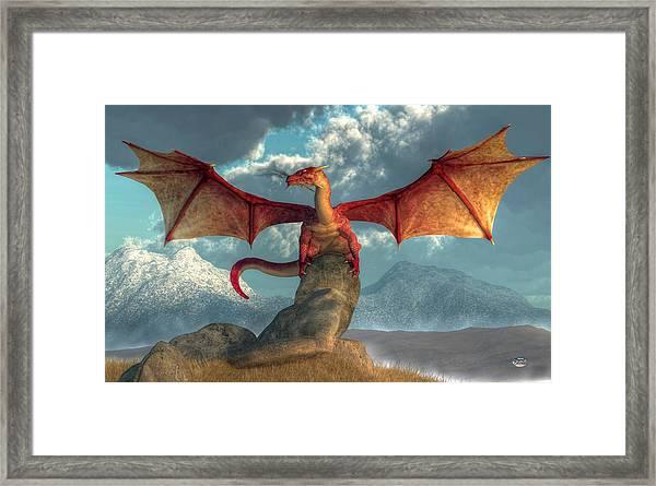 Fire Dragon Framed Print
