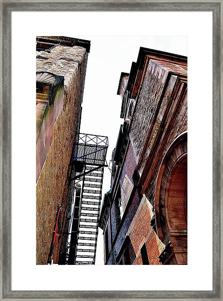 Fire Escape Pompous - Ontario - Canada Framed Print