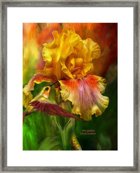 Fire Goddess Framed Print