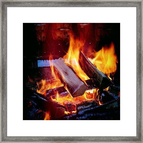 Fire - Hot And Orange Framed Print