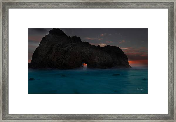 Fire In The Hole.... Big Sur Framed Print